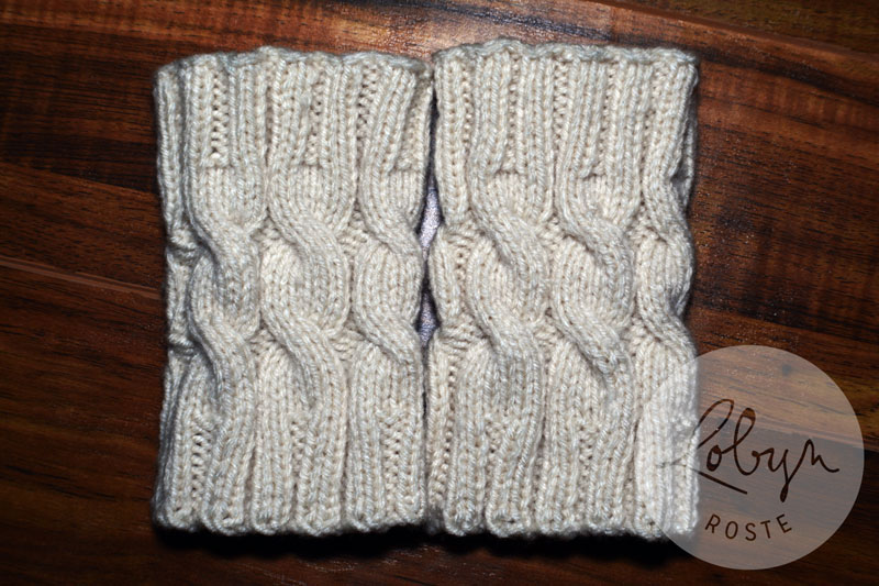 Cabled Boot Cuffs Free Pattern Creativity Strikes