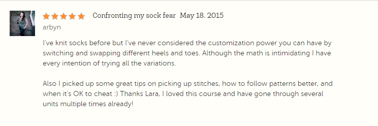 Socks My Way Course Review