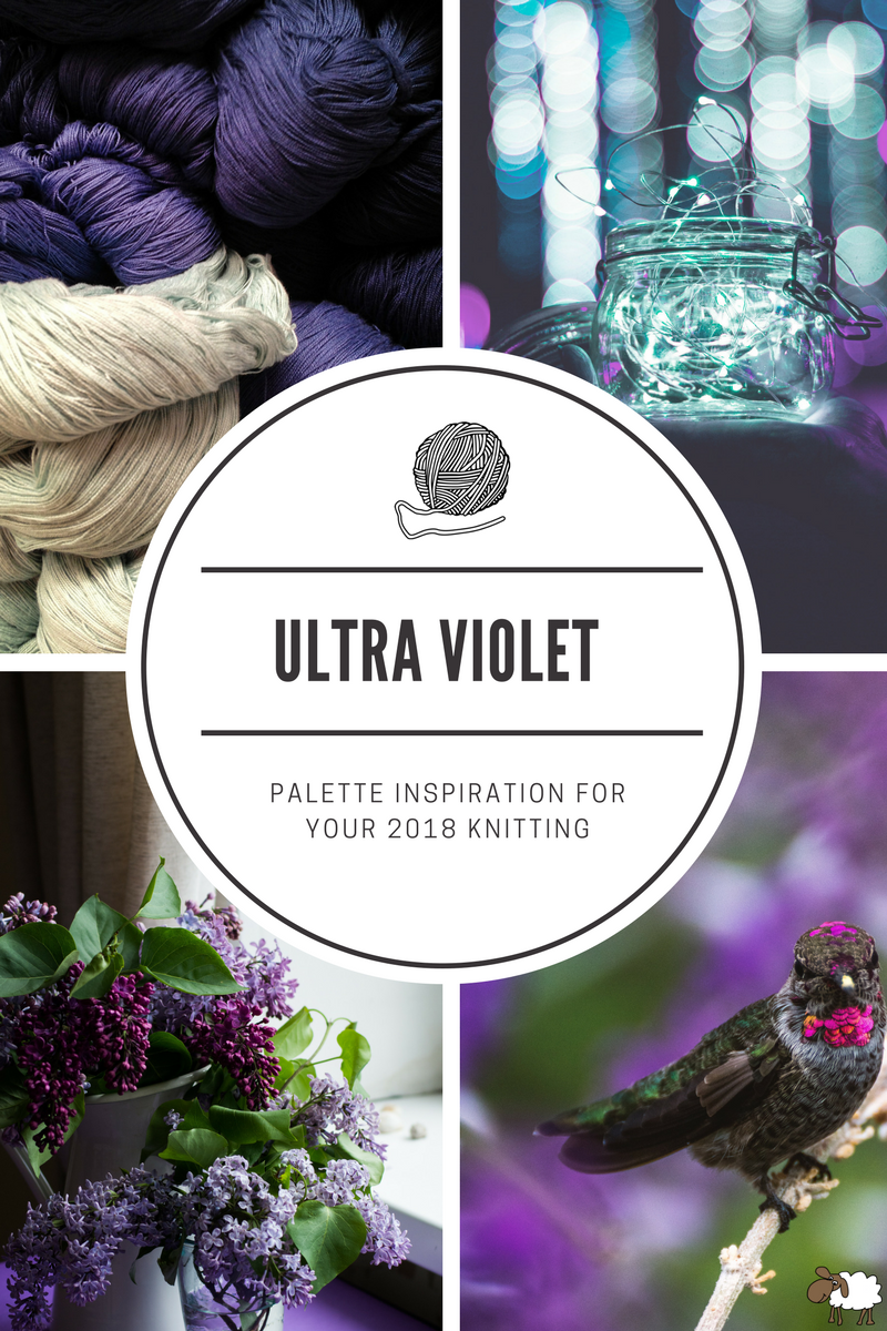 When it comes to knitting, choosing the right colour combinations is paramount. But how do you pick the perfect palette? You could just go with what the pattern designer suggests but what if you want to incorporate Pantone's 2018 colour of the year into your work? How does ultra violet fit into the scheme? Don't worry, I'm here to help.