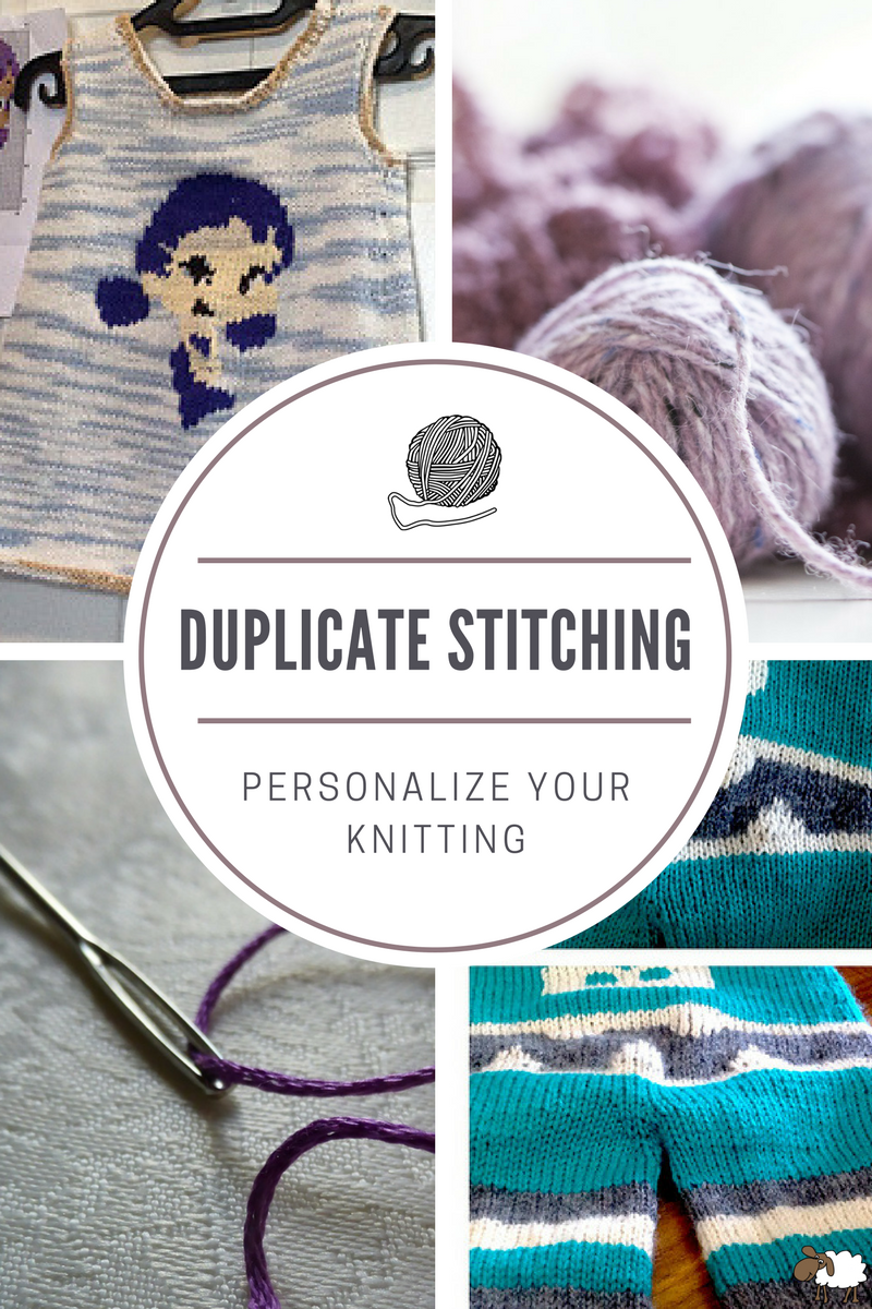 Duplicate stitching is a creative way to personalize your knitting projects. Whether you're adding a character or letters, put your personal touch on everything you make!