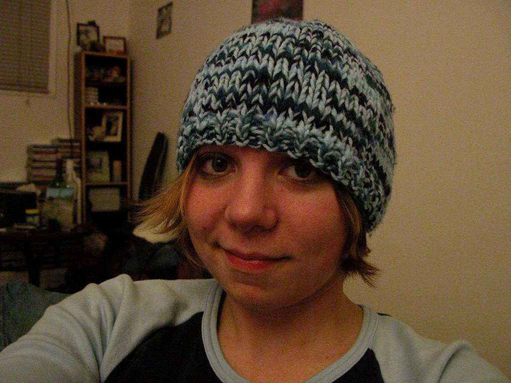 Easy Toque Pattern Yarn Doubled