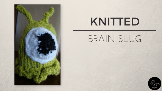 Knitted Brain Slug [free pattern]