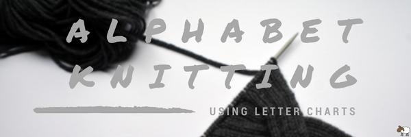 Alphabet Knitting Using Letter Charts