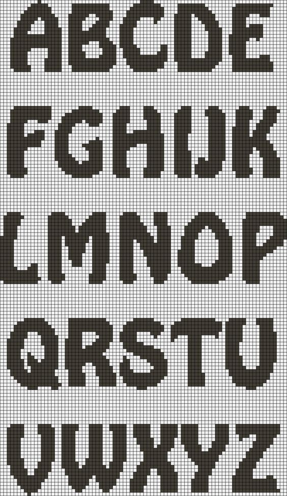Alphabet Knitting Using Letter Charts Creativity Strikes